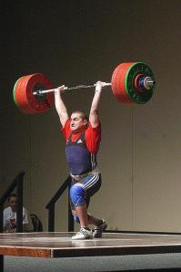 201kg clean and jerk at the Pan ams in 2009