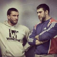 Vlad Rigert with his friend Dmitry Klokov
